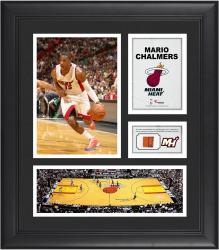 """Mario Chalmers Miami Heat Framed 15"""" x 17"""" Collage with Team-Used Ball"""