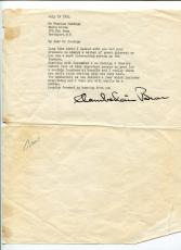 Chamberlain Brown Early Broadway Theater Producer Actor Signed Autograph TSL