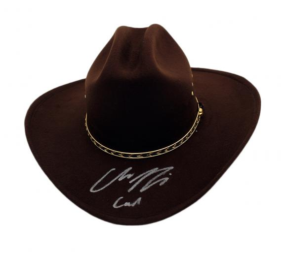 Chandler Riggs Signed The Walking Dead Full Size Replica Sheriff's Hat With Carl Inscription