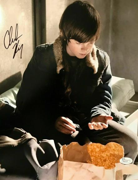 CHANDLER RIGGS (Carl-The Walking Dead) signed authentic 11x14 photo- JSA P02117