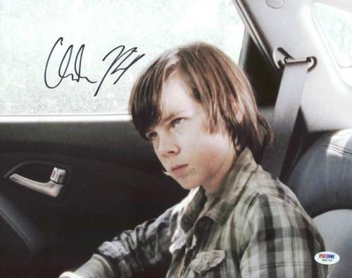 Chandler Riggs The Walking Dead Signed 11X14 Photo PSA/DNA #W80744
