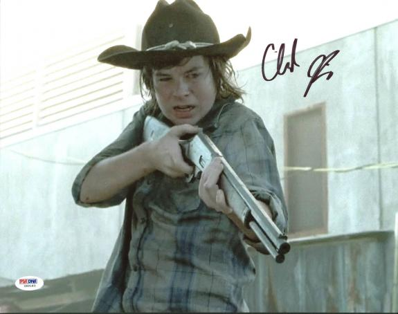 Chandler Riggs The Walking Dead Signed 11X14 Photo PSA/DNA #Z89183
