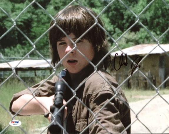 Chandler Riggs The Walking Dead Signed 11X14 Photo PSA/DNA #Z89187