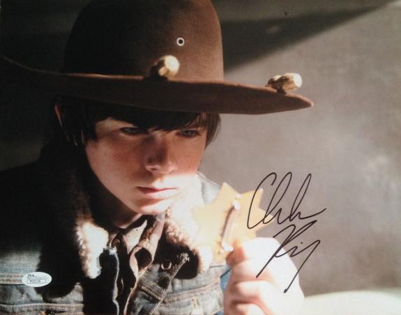 CHANDLER RIGGS (The Walking Dead) signed/autographed 11x14 photo JSA P02118