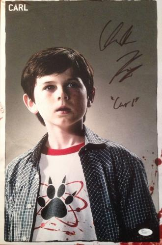 CHANDLER RIGGS(Carl- The Walking Dead) signed/autographed 12x18 photo JSA P21897