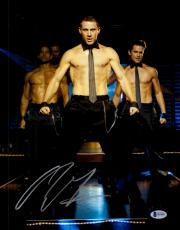 "Channing Tatum Autographed 11"" x 14"" Magic Mike- No Shirt Photograph - Beckett COA"