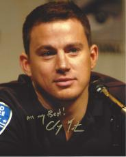 "CHANNING TATUM - MOVIES Include ""STEP UP"", ""22 JUMP STREET"", and ""WHITE HOUSE DOWN"" Signed 8x10 Color Photo"