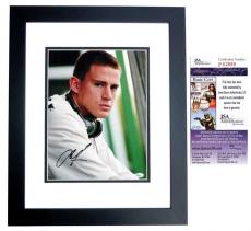 Channing Tatum Signed - Autographed 11x14 Photo BLACK CUSTOM FRAME - JSA Certificate of Authenticity
