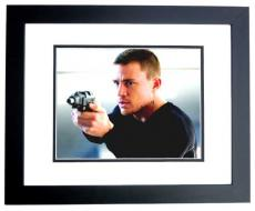 Channing Tatum Signed - Autographed 11x14 inch Photo BLACK CUSTOM FRAME - Guaranteed to pass PSA or JSA
