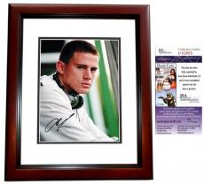 Channing Tatum Signed - Autographed 11x14 Photo MAHOGANY CUSTOM FRAME - JSA Certificate of Authenticity
