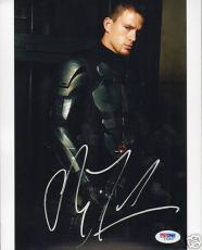 Channing Tatum Signed GI G.I Joe 8x10 Photo PSA/DNA COA Autograph Picture Cobra