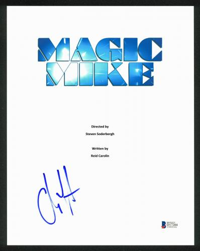 Channing Tatum Signed Magic Mike 8.5x11 Script Cover BAS #D17284