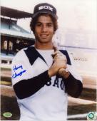 """Harry Chappas Chicago White Sox Autographed 8"""" x 10"""" Bat on Shoulder Pose Photograph"""