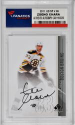 Zdeno Chara Boston Bruins Autographed 2011 Upper Deck SP#11 Card - Mounted Memories