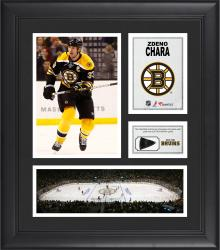 Zdeno Chara Boston Bruins Framed 15'' x 17'' Collage with Game-Used Puck-Limited Edition of 500 - Mounted Memories