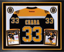 Zdeno Chara Boston Bruins Autographed Deluxe Framed Reebok Jersey