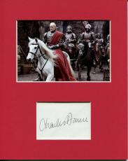 Charles Dance Game Of Thrones Tywin Lannister Signed Autograph Photo Display