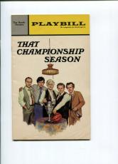 Charles Durning Paul Sorvino Richard Dysart That Championship Season Playbill