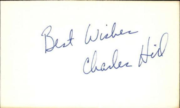"""CHARLES HILL GOLDEN GIRLS Signed 3""""x5"""" Index Card"""
