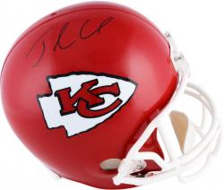 Jamaal Charles Kansas City Chiefs Autographed Riddell Replica Helmet - Mounted Memories