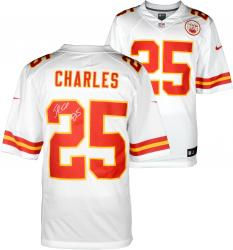 Jamaal Charles Kansas City Chiefs Autographed Nike Limited White Jersey - Mounted Memories