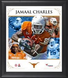 JAMAAL CHARLES FRAMED (TEXAS) CORE COMPOSITE - Mounted Memories