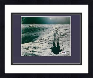 Charles M Duke Jr Astronaut signed 8x10 photo ins Moonwalker autograph PSA COA