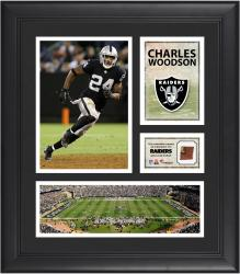 Charles Woodson Oakland Raiders Framed 15'' x 17'' Collage with Game-Used Football
