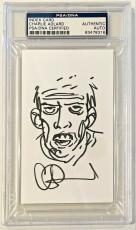 Charlie Adlard Signed Original Sketch THE WALKING DEAD 3x5 Index Card PSA/DNA