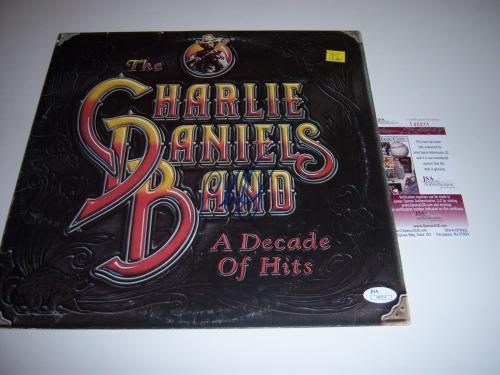 Charlie Daniels A Decade Of Hits Jsa/coa Signed Lp Record Album Cover