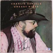 Charlie Daniels Autographed Uneasy Rider Album Cover with Vinyl - PSA/DNA