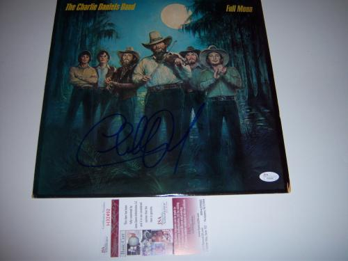 Charlie Daniels Full Moon Jsa/coa Signed Lp Record Album