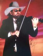 CHARLIE DANIELS (The Devil Went Down to Georgia) signed 11x14 photo #1