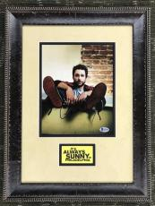CHARLIE DAY- ALWAYS SUNNY IN PHILADELPHIA signed custom framed display-BAS COA