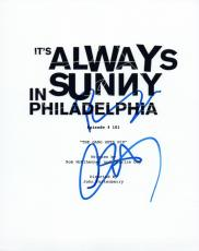 Charlie Day & Rob McElhenney Signed It's Always Sunny in Philadelphia Script VD