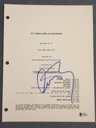 Charlie Day Signed IT'S ALWAYS SUNNY IN PHILADELPHIA Pilot Script BAS COA