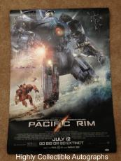 Charlie Hunnam & Guillermo Del Toro Signed 27x40 Movie Poster Pacific Rim Psa