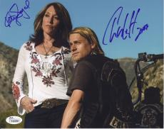 Charlie Hunnam & Katey Sagal Signed 'sons Of Anarchy' 8x10 Photo Jsa Coa