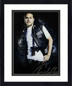 Charlie Hunnam Signed 11x14 Jax Teller W/Gun Photo- JSA W Auth *Silver