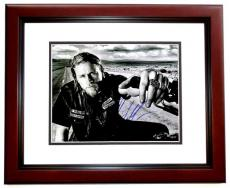 Charlie Hunnam Signed - Autographed Sons of Anarchy - Jax Teller 11x14 inch Photo MAHOGANY CUSTOM FRAME - Guaranteed to pass PSA or JSA