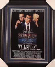 "Charlie Sheen 11x17 Autographed Framed ""wall Street"" Movie Photo Psa Coa"