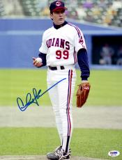 "Charlie Sheen Autographed 11"" x 14"" Major League Standing on Pitchers Mound Holding Baseball Photograph - PSA/DNA COA"