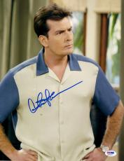 "Charlie Sheen Autographed 11"" x 14"" Two and a Half Men Up Close Hands on Hips Photograph - PSA/DNA COA"