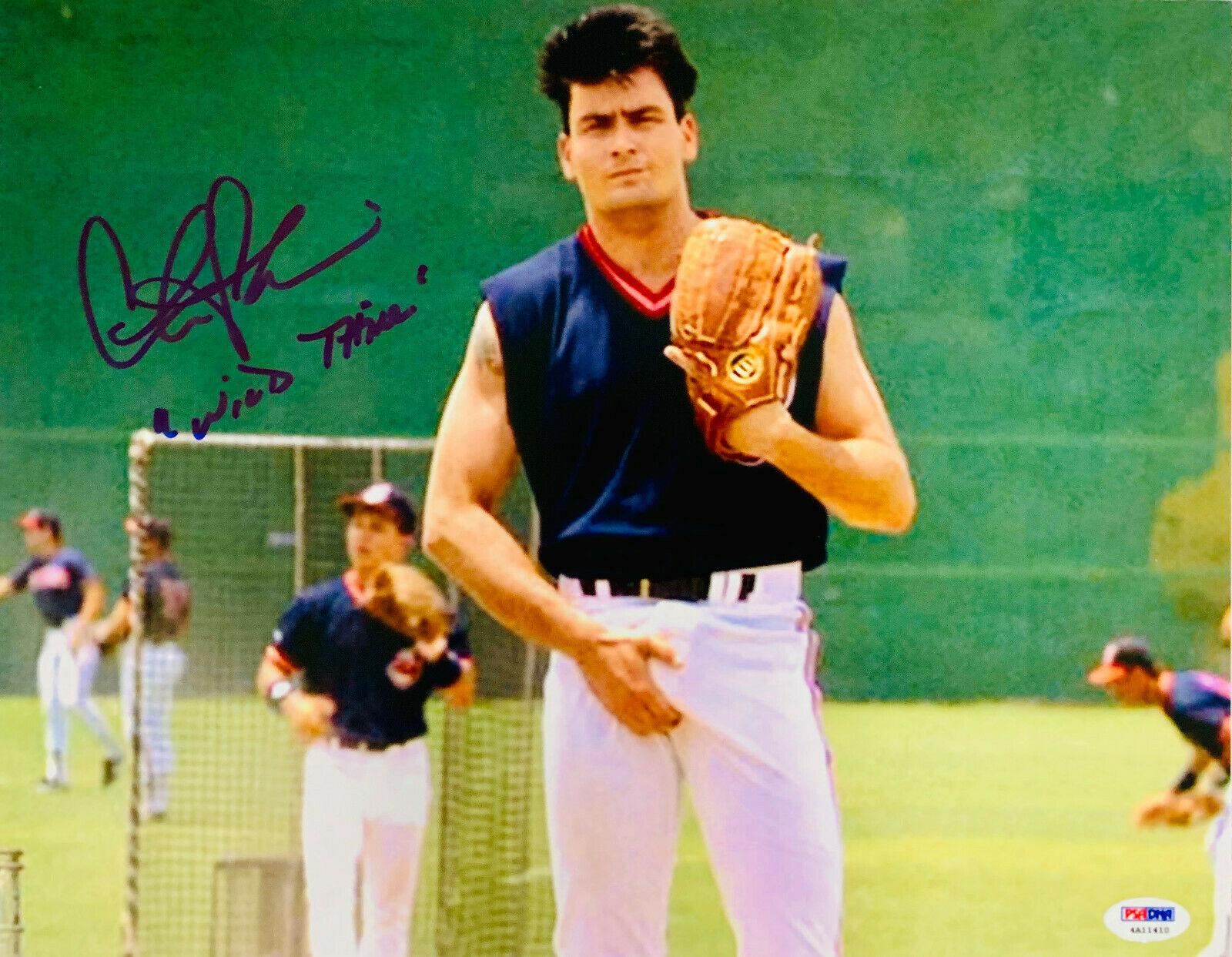 sheen autographed 11x14 major league thing