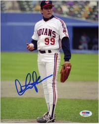 Charlie Sheen Autographed 8'' x 10'' On Mound Photograph - Mounted Memories