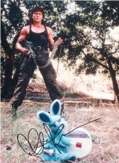 Charlie Sheen autographed 8x10 photo (Hot Shots) Image #2 Kills The Bunny