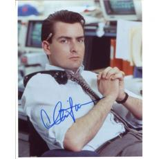 Charlie Sheen Autographed 8x10