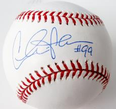 "Charlie Sheen Autographed Baseball with ""Wild Thing"" Inscription - PSA/DNA"