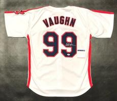 CHARLIE SHEEN AUTOGRAPHED RICKY VAUGHN JERSEY with PSA ITP COA #8A30145 INDIANS