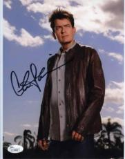 CHARLIE SHEEN Autographed Signed 8x10 Photo Certified Authentic JSA AFTAL COA